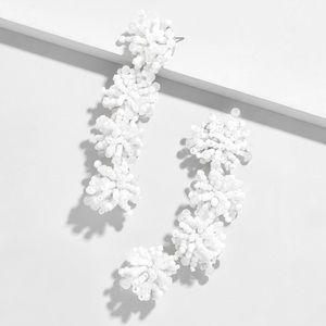 BaubleBar Ria Drop Earrings in White
